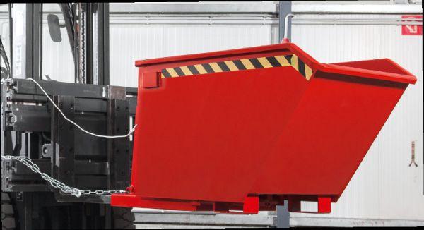 Späne-Kippbehälter 500 l, B 780 x T 1500 x H 800mm, Tragkraft bis 1200 kg
