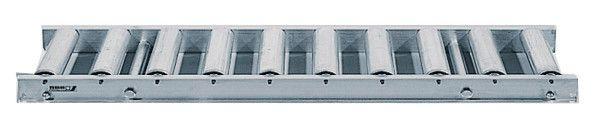 Rollenbahn mit Stahlrollen, 400mm breit, 100er Teilung