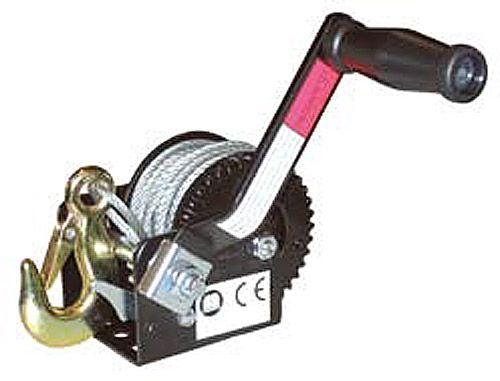 Hand-Seilwinde mit manueller Bremse, 10-m Seil, ø 5mm, max. Zuglast 360 kg