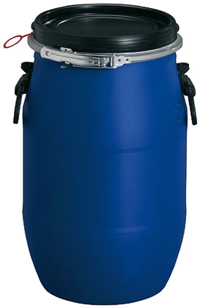 Rundfaß mit Weithalsöffnung für 30 Liter Inhalt, ø 310 x H 510mm, blau