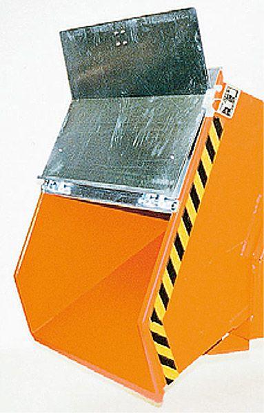 2-teiliger verzinkter Klappdeckel für 1500 Liter Kippbehälter