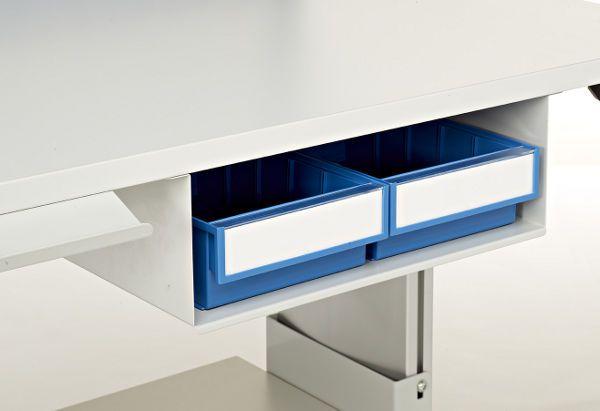 Unterbau mit 2 blauen Kunststoff-Schubkästen