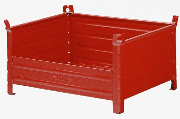 Stapelbehälter mit Kranösen, halboffen, 1000x800x600mm