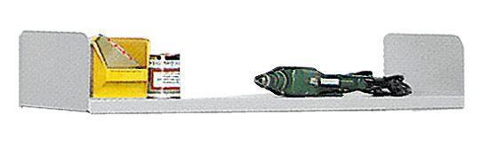 Stahlboden 1000x250mm lichtgrau mit Seitenstützen Serie 70-BV