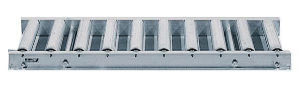 Rollenbahn mit Stahlrollen, 750mm breit, 100er Teilung