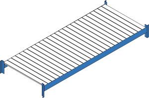 Fachebene mit Stahlsegmenten
