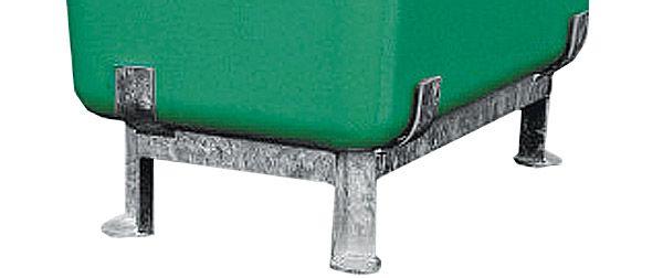 Stahlfußgestell für GFK-Behälter flach, 200 Liter Inhalt