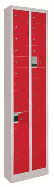 Kleinfach-Schrank 30 Fächer mit glatten Türen