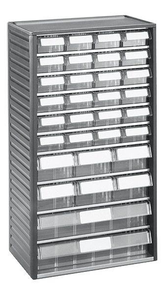Kleinteilemagazin mit Schubladen 24x01, 6x04, 2x06