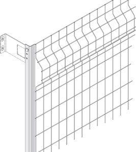 Gitterwand mit Stahlgitter