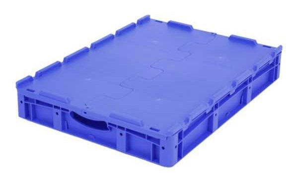 Euro-Stapelbehälter XL, 38 l, mit doppeltem Boden und Deckel, bis 200 kg belastbar, 600x800x138mm