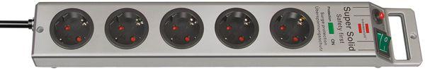 brennenstuhl 5-fach Steckdosenleiste mit Überspannungs/Blitzschutz, Kabel 2,5 m, Länge 445 mm