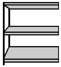 Großfach-Regal im Stecksystem Serie B 60-GFH / B 60-GFS