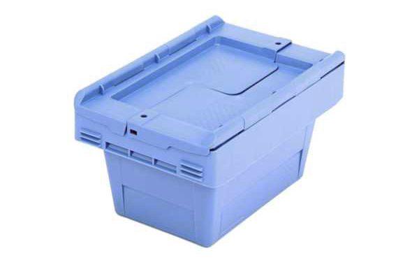 Mehrweg-Stapelbehälter 5 L, mit Klappdeckel, 310x200x170mm
