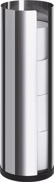 blomus WC-Rollenhalter Ständer, Ø 135 x H 455mm, Edelstahl