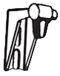 Rohrhalter mit Endanschlag links