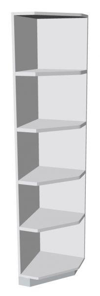 Abschluss-Eckregal rechts 5 Ordnerhöhen Serie dataline