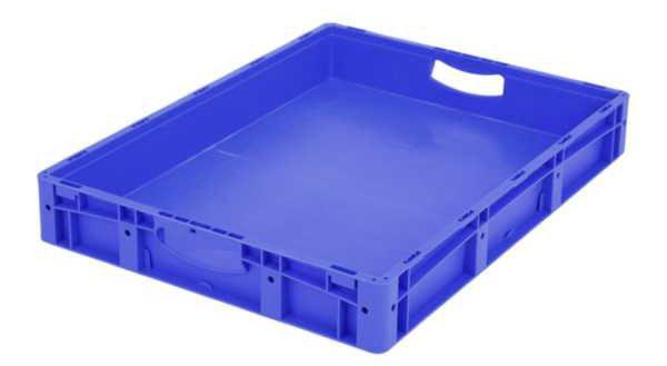 Euro-Stapelbehälter XL, 43 l, mit doppeltem Boden, bis 200 kg belastbar, 600x800x120mm
