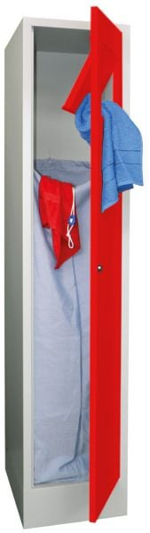 Stahl-Wäschesammelschrank mit Einwurfklappe