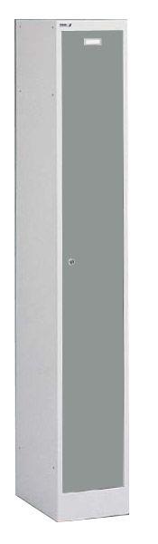 Spind / Stahl-Garderobenschrank, 1 Tür