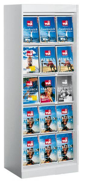 Prospekt- und Zeitschriften-Schrank 15xA4