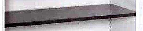 Stahlfachboden, graphitschwarz, mit 4 Bodenträgern, B595 x T380 x H25 mm, für Schrank-Serie 950