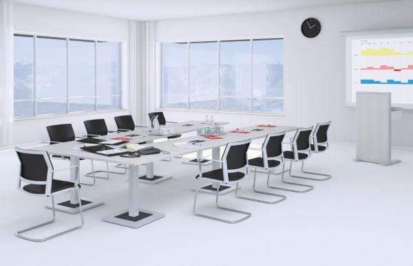DESIGN-Konferenztisch für V-Stellung