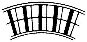 Leicht-Alu-Rollenbahn-Kurve, 450mm breit, 75er Teilung