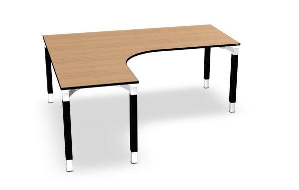Assmann Winkel-Schreibtisch links, Serie dataline QQ