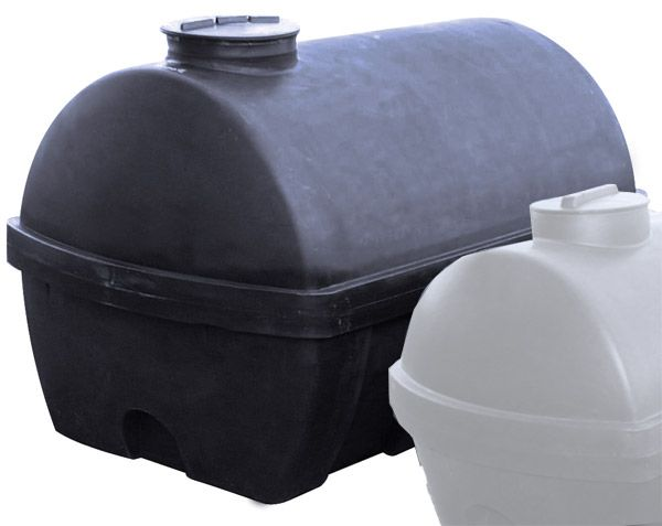 Universaltank, 2000 l, schwarz, 2000x1250x1260mm