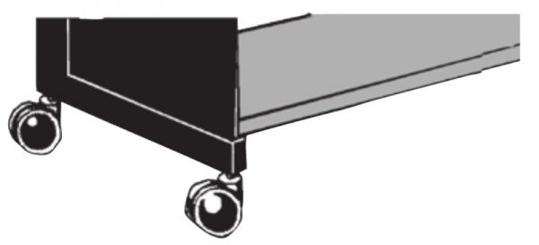 Satz = 4 Stück Zwillings-Lenkrollen ø 75mm Serie K 70-BV