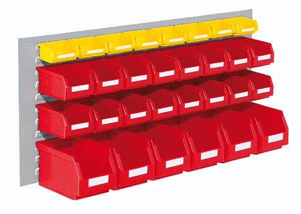 Einsteigerset Typ 3, 1 Schlitzplatte, 30 Sichtlagerkästen