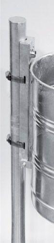 Pfosten zum Aufdübeln, feuerverzinkt, Ø 60 x H 1000mm