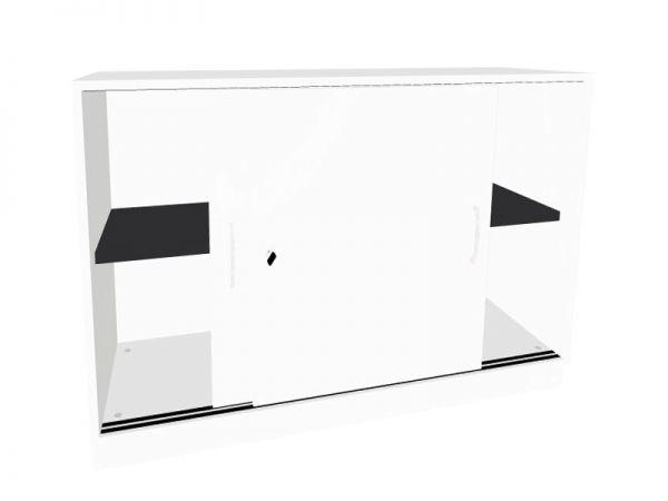 Schiebetürenschrank mit 1 x 2 Stahlböden Serie dataline