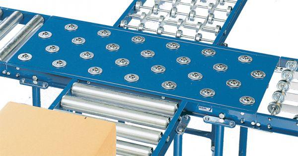Kugelrollen-Tisch für Rollenbahnen, verzinkt, L 600mm