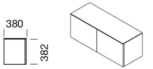 Hänge-Flügeltürenschrank für Modul-Wandsystem, Collection Multiwa