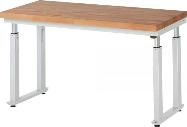 Werktisch mit Buche-Massiv-Platte, Serie adlatus 600