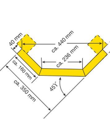 Eckplanke Außenecke für Rammschutz-Planken