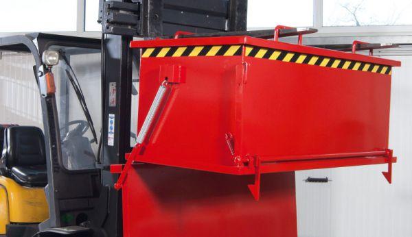 Klappenbodenbehälter 750 l, B 1685 x T 840 x H 910mm, Tragkraft bis 1250 kg