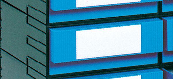 Schubladen-Box, 242x320x102mm, mit 1 Schublade, blau, einschließlich Schnapp-Versch