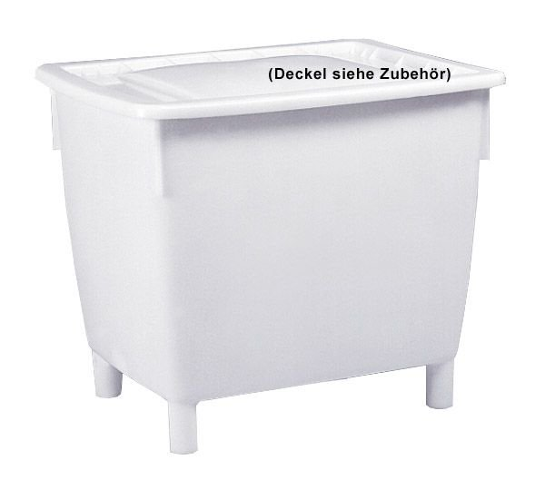 Kunststoff-Großbehälter mit 4 Füßen, naturweiß,  Inhalt 400L, B945xT725xH830mm