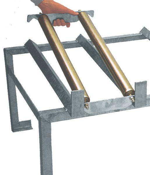 Rollenauflage, steckbar, für 1 x 200 Liter-Fass