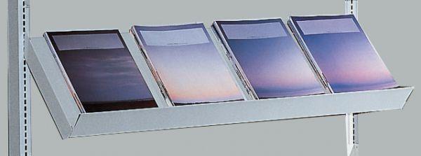 Schrägboden 1000x300mm lichtgrau mit Konsolen Serie K 70-BV