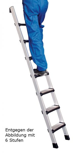 Stufen-Anlegeleiter aus Leichtmetall