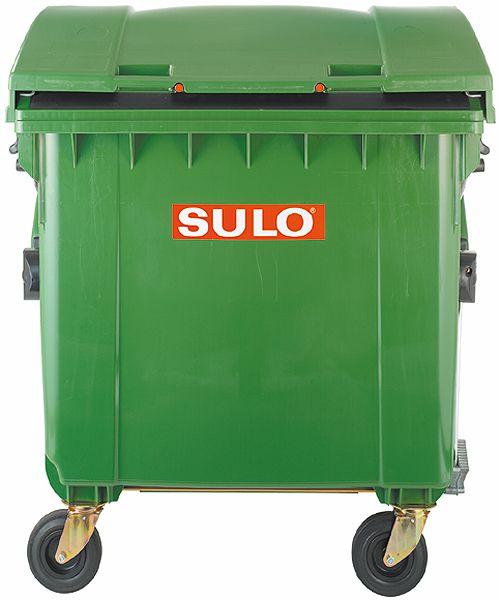 Müll-Großbehälter aus Kunststoff, 1100 Liter, mit Kindersicherung