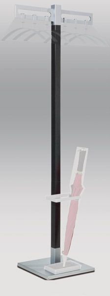 Garderobenständer montana ohne Schirmhalter/Kleiderbügel/ Doppelhaken, B550xT370xH1700mm