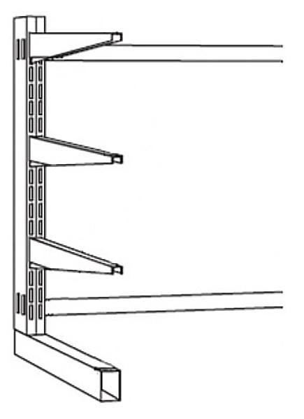 Kragarm-Stahlregal einseitig, Serie S-KS