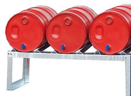 Fassbock, feuerverzinkt, für 3 x 60 Liter-Fässer, B1155xT545xH455mm