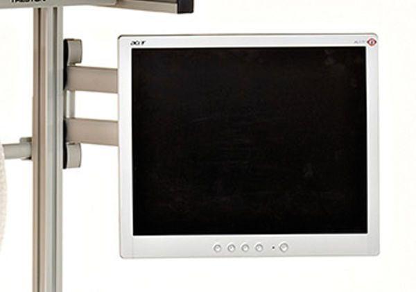 Schwenkarm für LCD-Monitore bis 15kg Gewicht