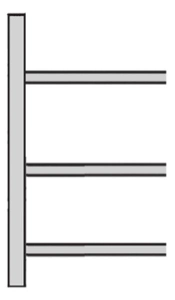 Schrägboden-Regal Typ 1, Serie S 25-STS